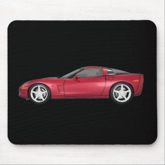 2008 Corvette: Sports Car: Candy Apple Finish: Mouse Pad