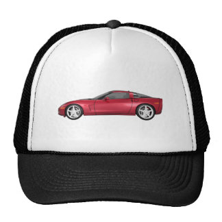 2008 Corvette: Sports Car: Candy Apple Finish: Trucker Hat