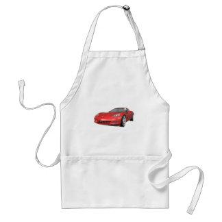 2008 Corvette Sports Car Red Finish Apron