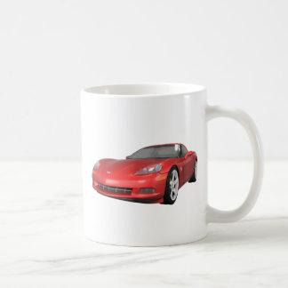 2008 Corvette: Sports Car: Red Finish: Coffee Mug