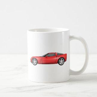 2008 Corvette: Sports Car: Red Finish: Classic White Coffee Mug