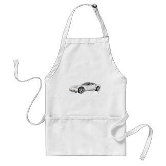 2008 Corvette: Sports Car: White Finish: Adult Apron