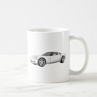 2008 Corvette: Sports Car: White Finish: Coffee Mug