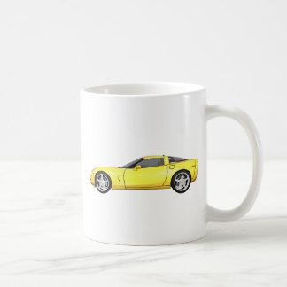2008 Corvette: Sports Car: Yellow Finish: Coffee Mug