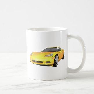 2008 Corvette: Sports Car: Yellow Finish: Mug