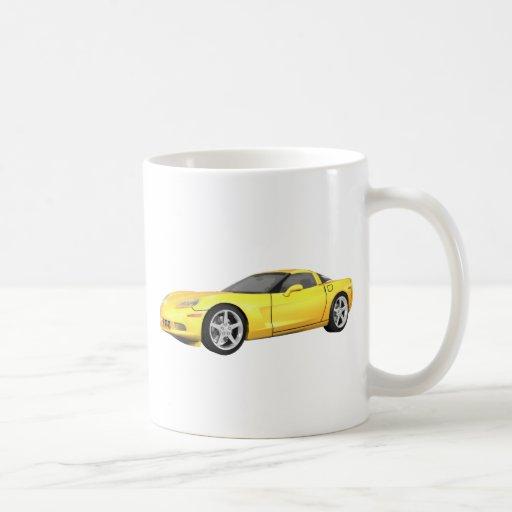2008 Corvette: Sports Car: Yellow Finish: Mugs