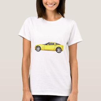 2008 Corvette: Sports Car: Yellow Finish: T-Shirt
