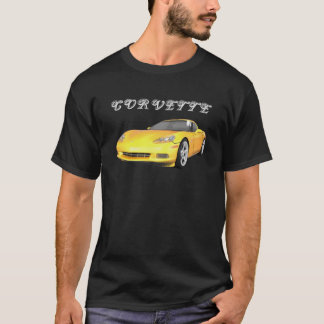 2008 Corvette: Sports Car: Yellow Finish: T-Shirt