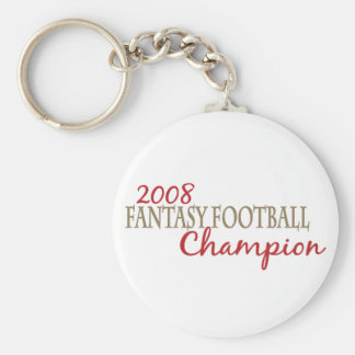2008 Fantasy Football League Champion Basic Round Button Keychain