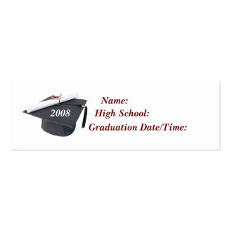 2008 Graduation Profile Card Double-Sided Mini Business Cards (Pack Of 20)