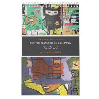 2008 Graffiti Abstracts Calendar by Bill O'Neil