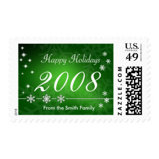 2008 Holiday Postage Stamp - Green