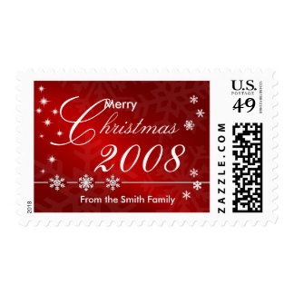 2008 Holiday Postage Stamp - Red and White