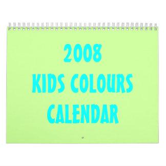 2008 KIDS COLOURS CALENDAR