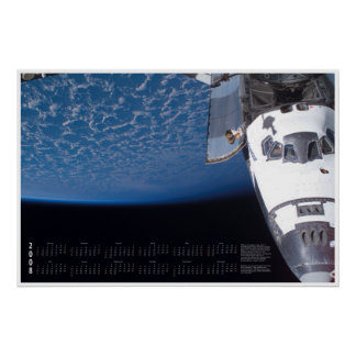 2008 Space Shuttle Calendar Posters
