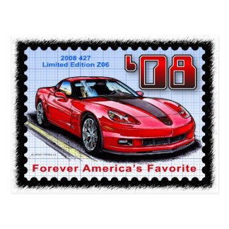 2008 Special Limited Edition Corvette 427 Z06 Postcard