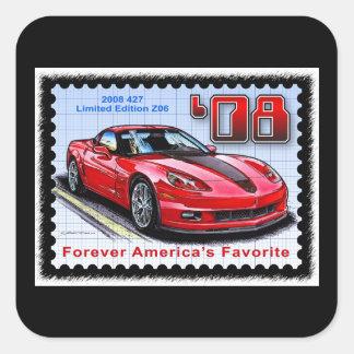 2008 Special Limited Edition Corvette 427 Z06 Square Sticker