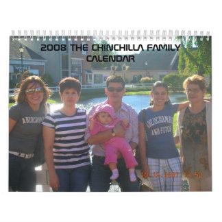 2008 THE CHINCHILLA FAMILY CALENDAR