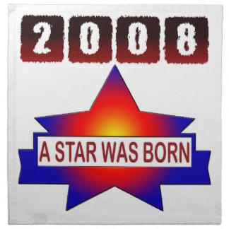 2008 una estrella nació servilletas de papel