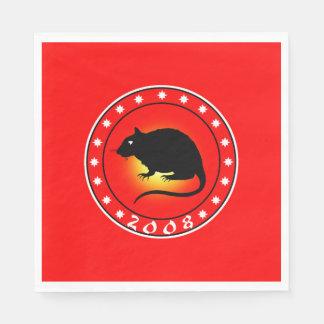 2008 Year of the Rat Standard Luncheon Napkin