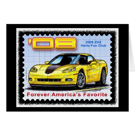 2008 ZHZ Hertz Fun Club Rental Edition Corvette Card