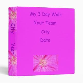 2009-1030, My 3 Day Walk binder