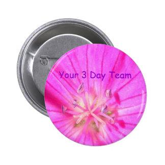 2009-1030, su botón del equipo de 3 días pin redondo de 2 pulgadas