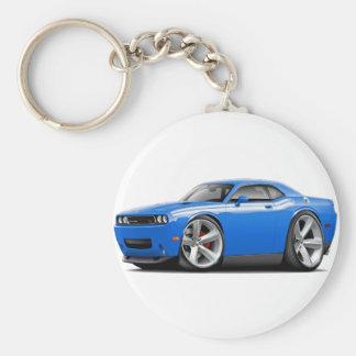 2009-11 Challenger RT B5 Blue-White Car Basic Round Button Keychain