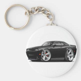2009-11 Challenger RT Black Car Basic Round Button Keychain