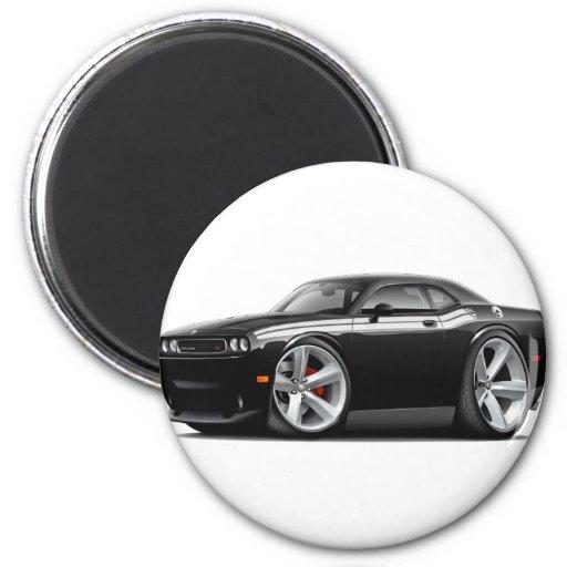 2009-11 Challenger RT Black-White Car Refrigerator Magnet