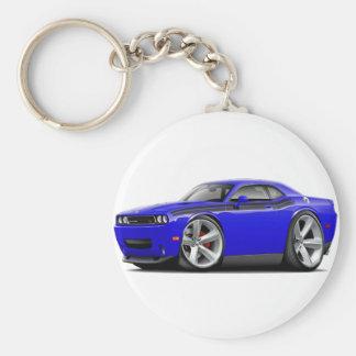2009-11 Challenger RT Blue-Black Car Basic Round Button Keychain