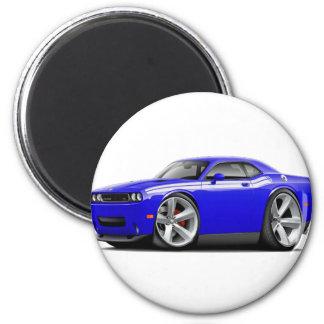 2009-11 Challenger RT Blue-White Car 2 Inch Round Magnet
