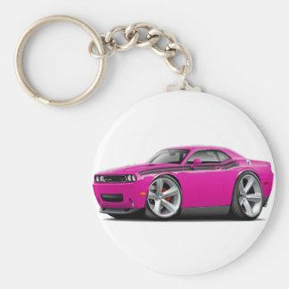 2009-11 Challenger RT Fuschia-Black Car Basic Round Button Keychain