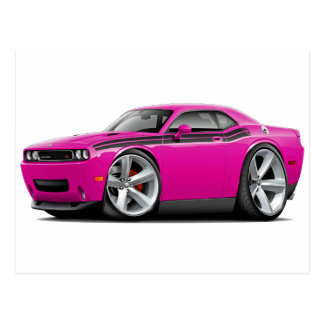 2009-11 Challenger RT Fuschia-Black Car Postcard