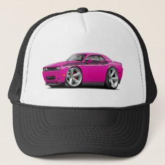 2009-11 Challenger RT Fuschia-Black Car Trucker Hat