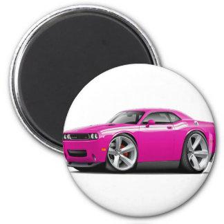 2009-11 Challenger RT Fuschia-White Car Magnet