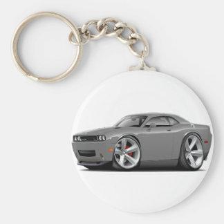 2009-11 Challenger RT Grey Car Basic Round Button Keychain