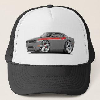 2009-11 Challenger RT Grey-Red Car Trucker Hat