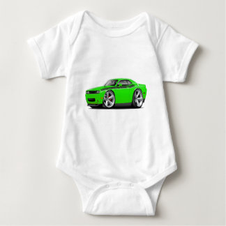 2009-11 Challenger RT Lime-Black Car Baby Bodysuit