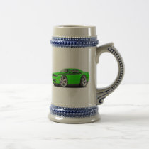 2009-11 Challenger RT Lime-Black Car Beer Stein