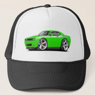 2009-11 Challenger RT Lime-White Car Trucker Hat