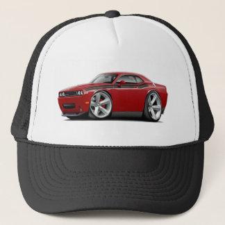 2009-11 Challenger RT Maroon-Black Car Trucker Hat