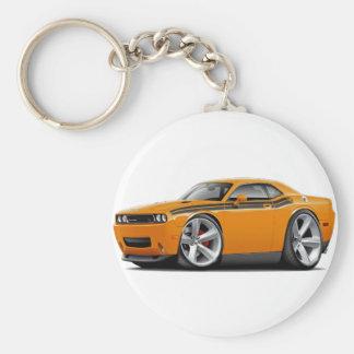 2009-11 Challenger RT Orange-Black Car Basic Round Button Keychain