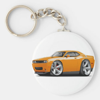 2009-11 Challenger RT Orange-White Car Basic Round Button Keychain