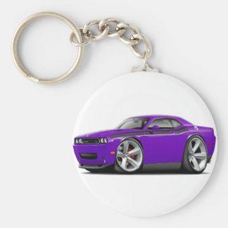 2009-11 Challenger RT Purple-Black Car Basic Round Button Keychain