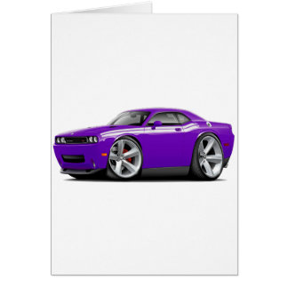 2009-11 Challenger RT Purple-White Car Greeting Card