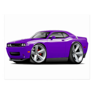 2009-11 Challenger RT Purple-White Car Postcards