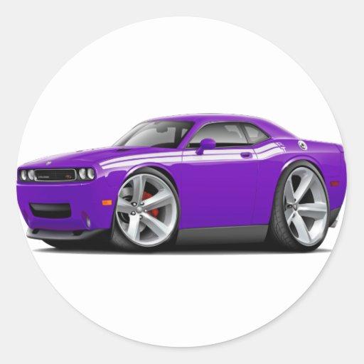 2009-11 Challenger RT Purple-White Car Round Stickers