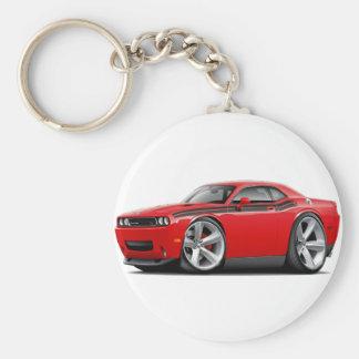 2009-11 Challenger RT Red-Black Car Basic Round Button Keychain