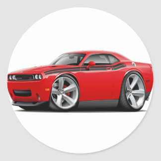 2009-11 Challenger RT Red-Black Car Stickers